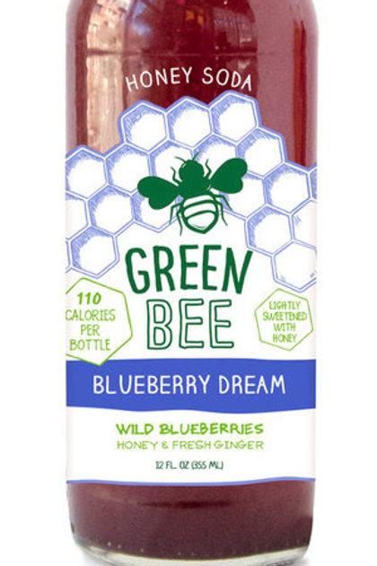 Green Bee Blueberry Dream Honey Soda 12oz (4 pack)