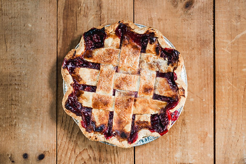 """Two Fat Cats- Sour Cherry Pie 9"""" (Frozen single pie)"""