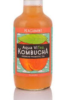 Aqua ViTea Kombucha  Peachmint organic/raw 16oz