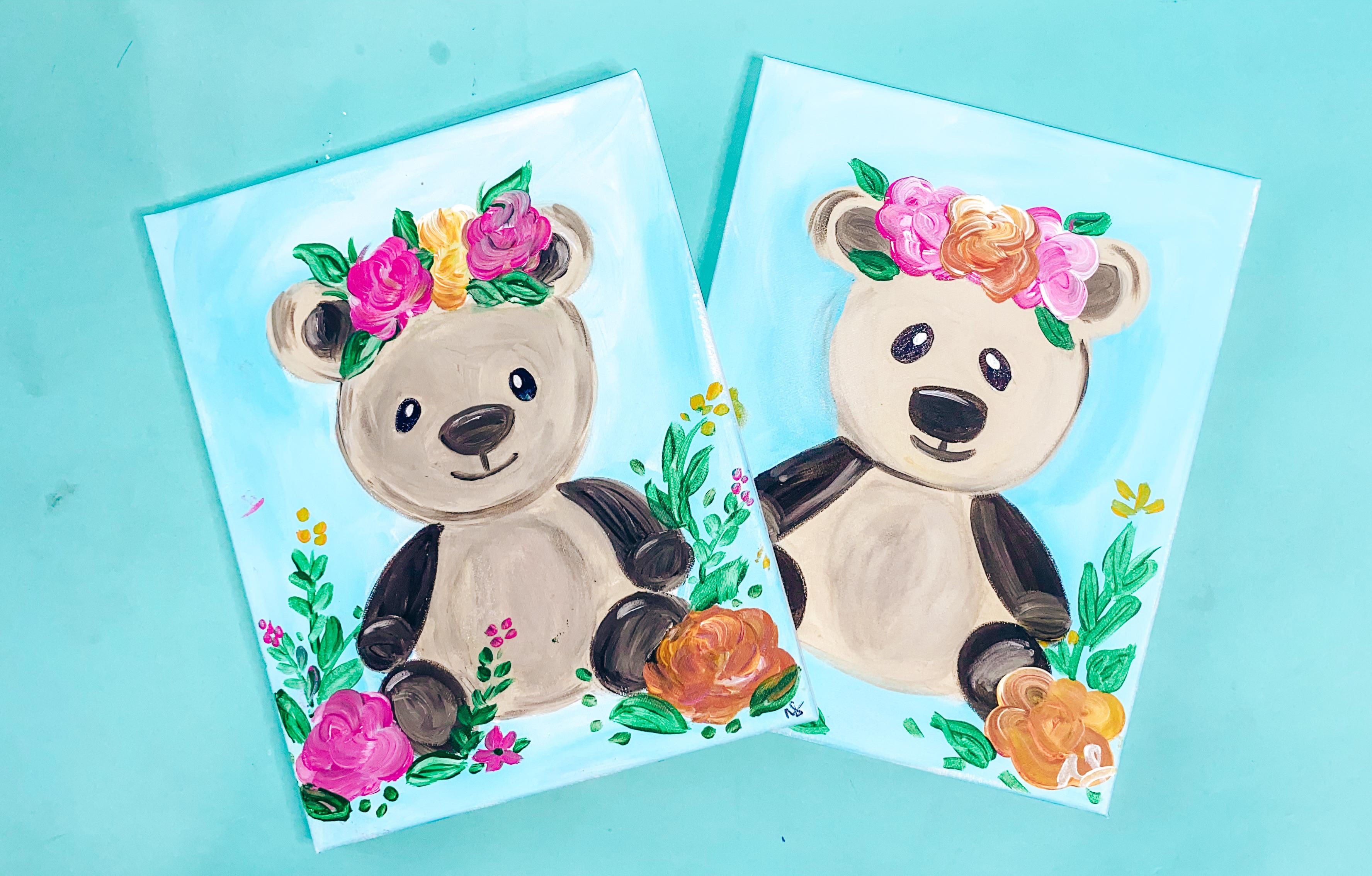 Floral Teddy Bear