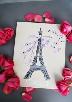 Cherry Blossom Eiffel Tower