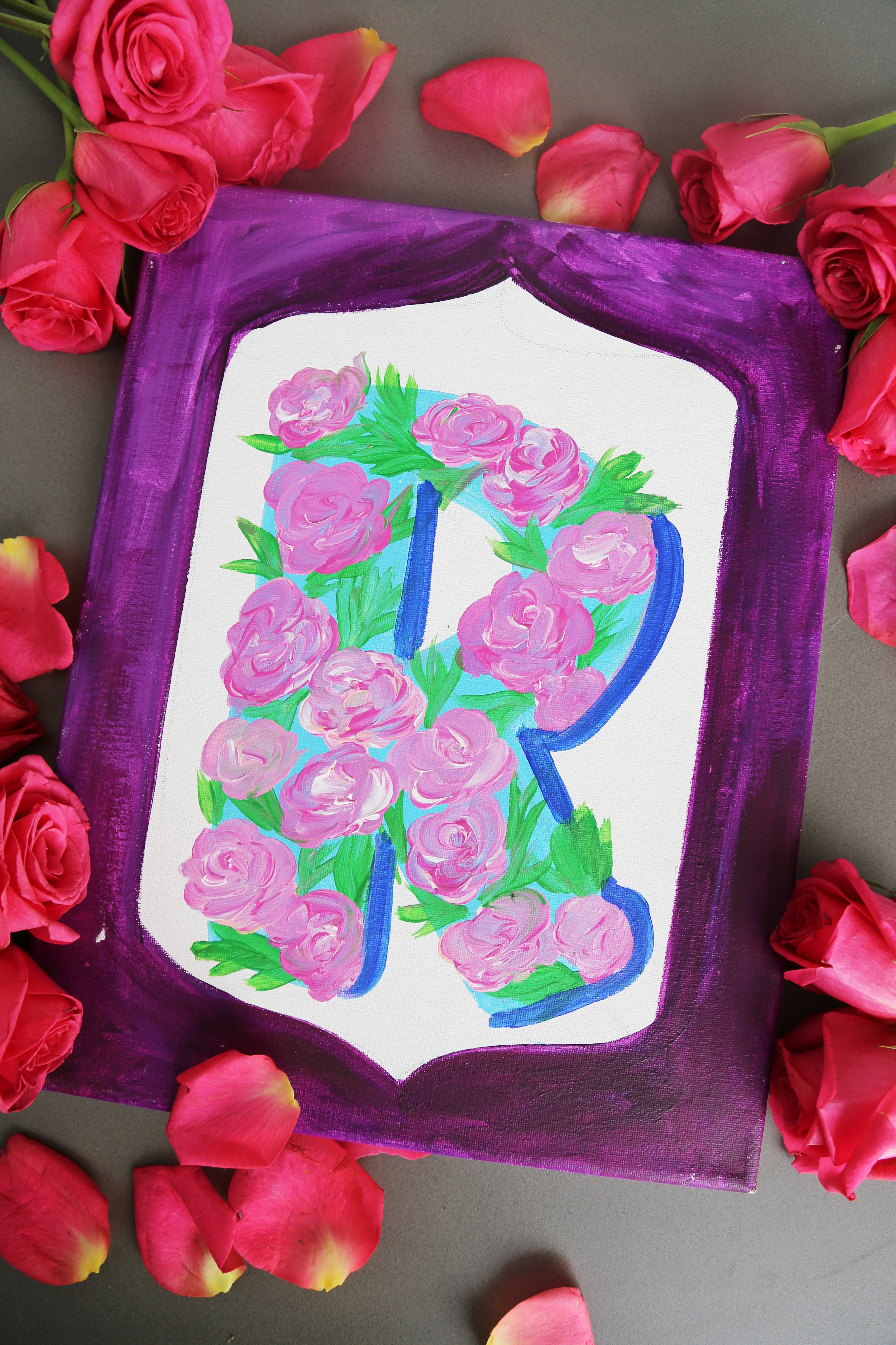 Floral Initial