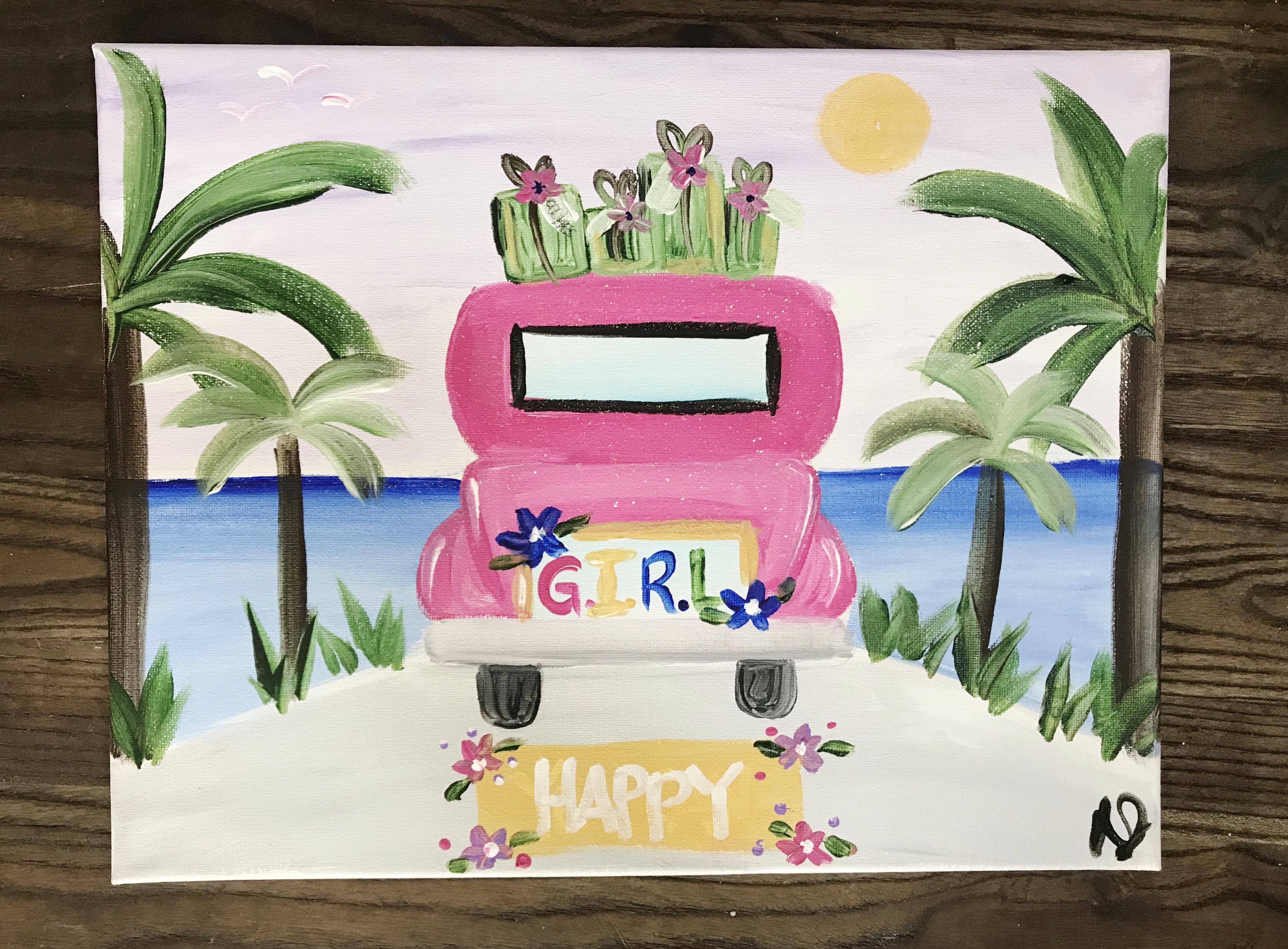 Summer Beach Car
