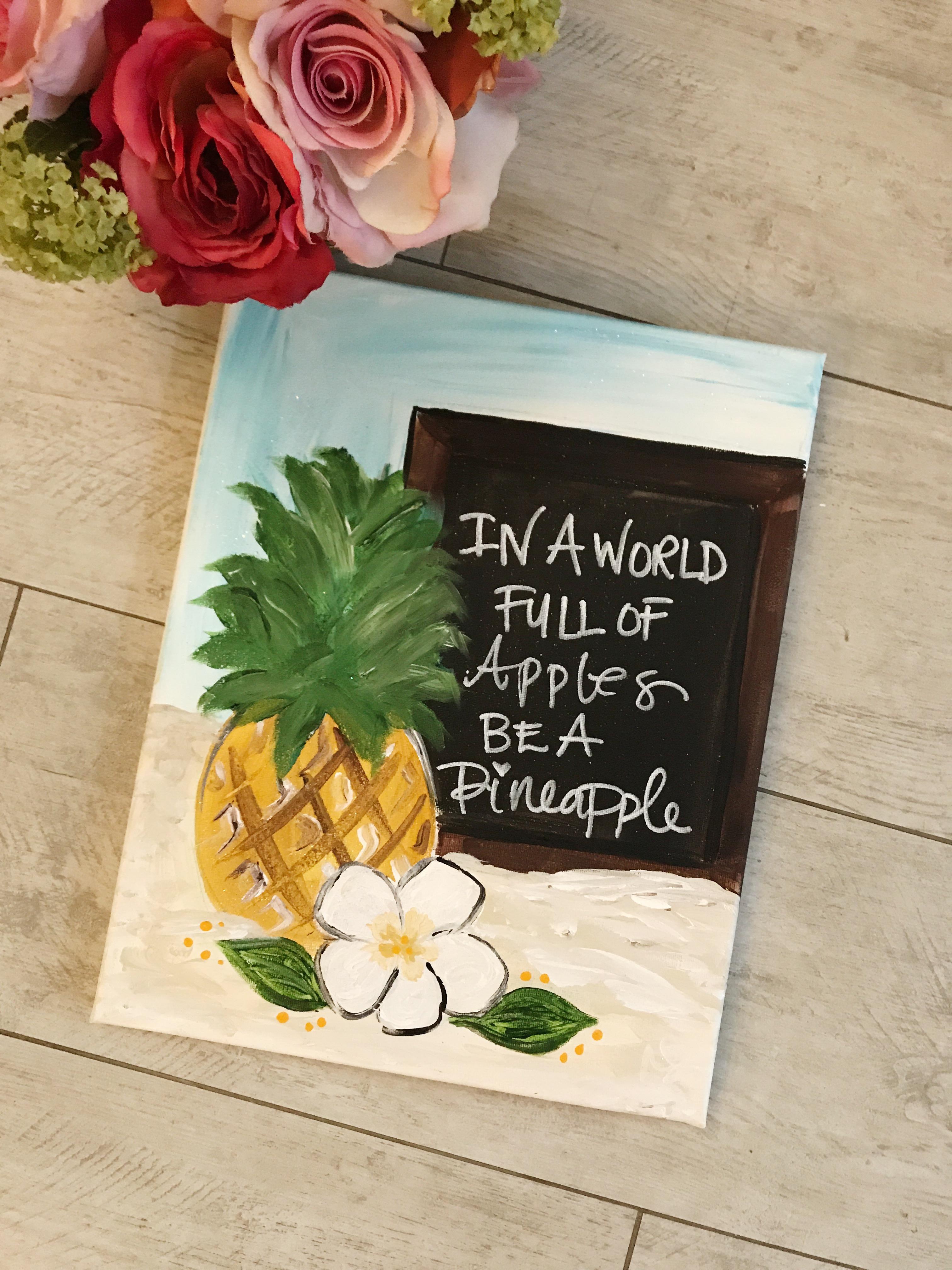 Pineapple Chalkboard