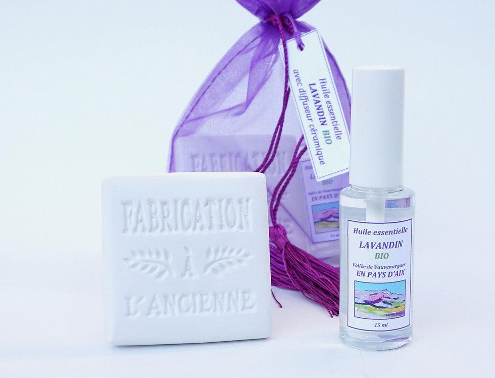Lavandin Spray 15mL & Diffuseur en céramique