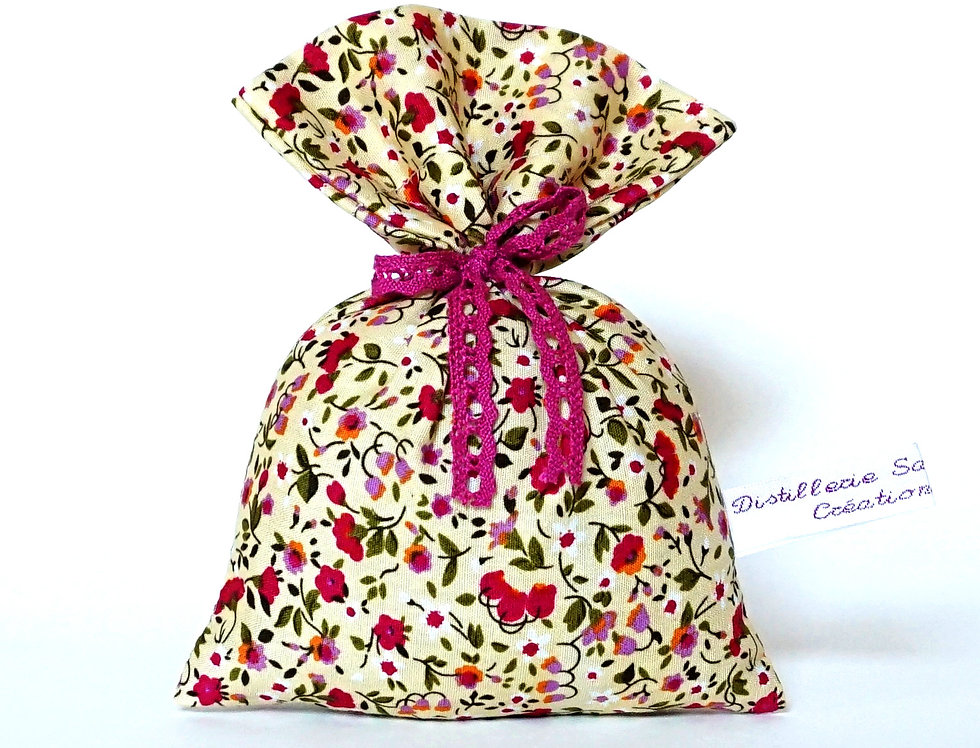 Pochon Lavandin motifs floraux