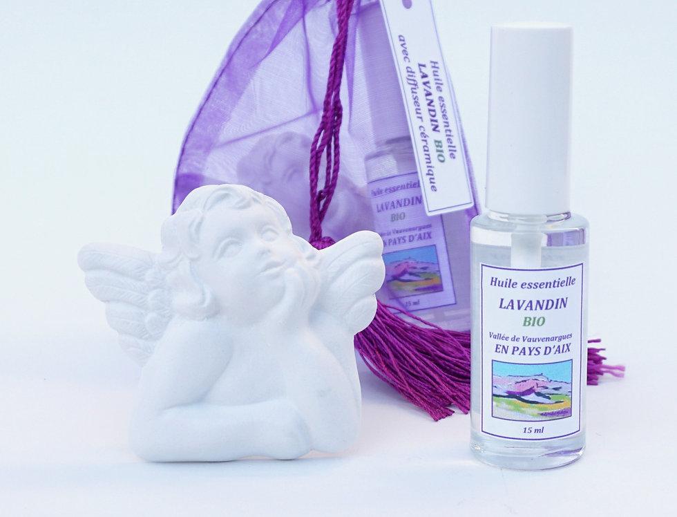 Lavandin Spray 15mL & Diffuseur en céramique Anges