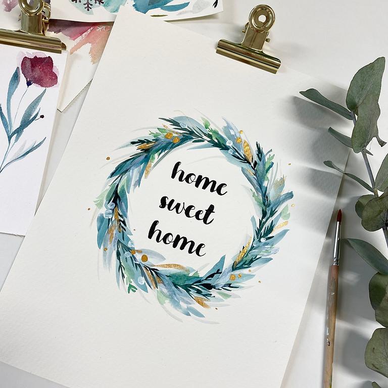 Atelier aquarelle  de Noël