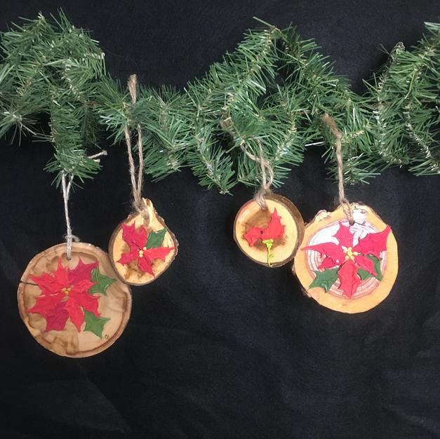 Pointsettia Ornaments