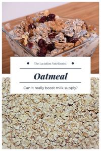 Oatmeal Breastfeeding