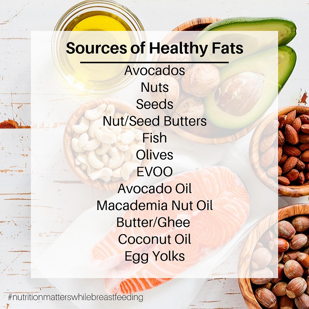 Healthy Fats for Breastfeeding Moms