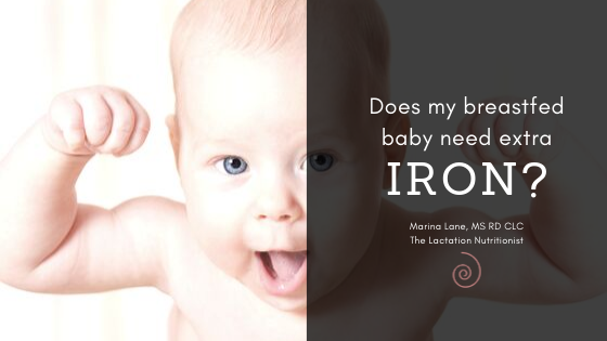 do breastfed babies need iron supplements?