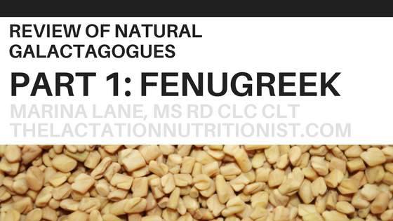 Fenugreek for Breastfeeding