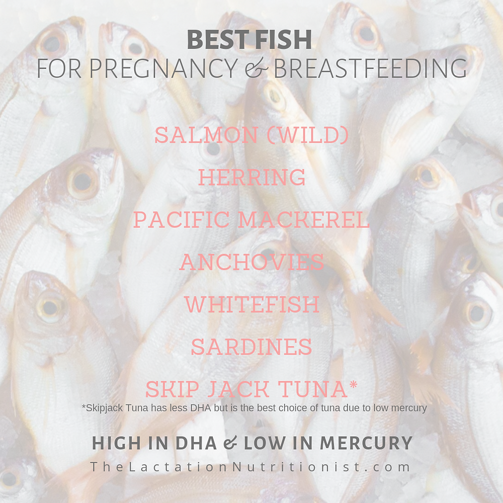 best fish while breastfeeding