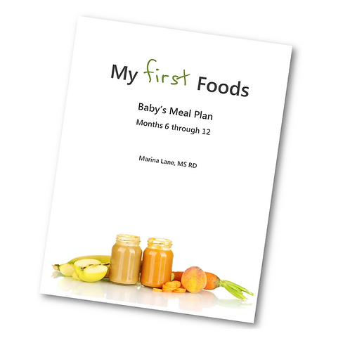 My First Foods - Meal Plan for Babies 6 to 12 months