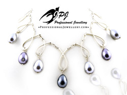 JPJ Professional Jewellery sterling silver necklace with synthetic pearls.jpg