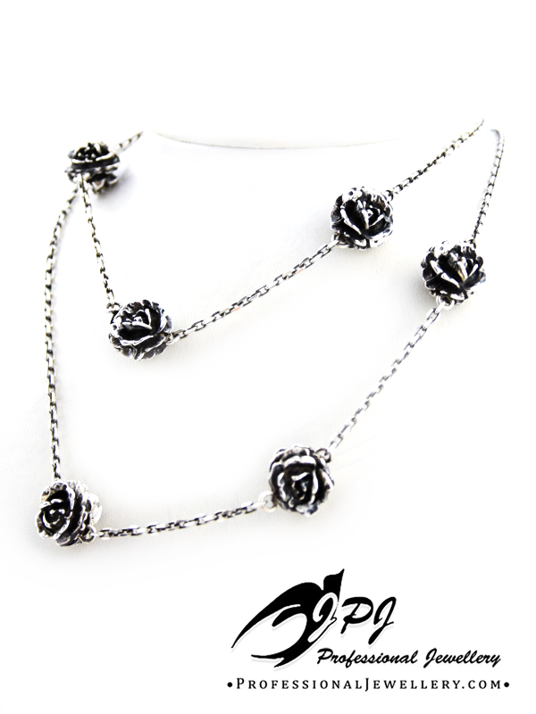 JPJ Professional Jewellery sterling silver roses necklace.jpg