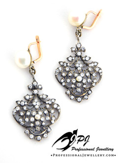 JPJ Professional Jewellery Victorian style  sterling silver and 14K yellow gold