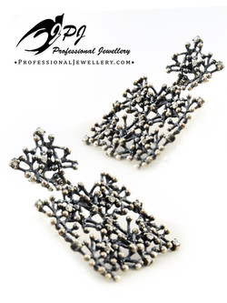 JPJ Professional Jewellery reef motif sterling silver square earrings.jpg