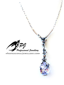 JPJ Professional Jewellery sterling silver reef necklace with zircons.jpg