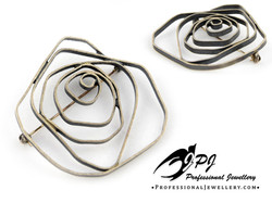 JPJ Professional Jewellery sterling silver brooch in rose motif.jpg