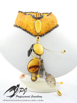 JPJ Professional Jewellery Baltic Amber sterling silver necklace 1.jpg
