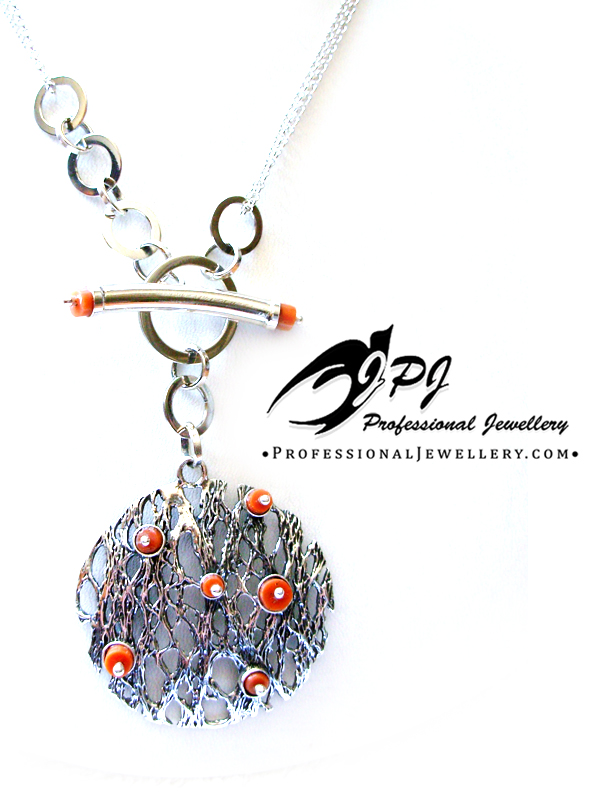 JPJ Professional Jewellery sterling silver and corals necklace.jpg