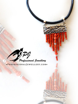 JPJ Professional Jewellery sterling silver necklace with corals.jpg