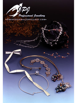 JPJ Professional Jewellery sterling silver sets - oxidized grapes necklace, flow