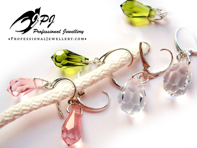 JPJ Professional Jewellery Swarovski Crystal Earrings in sterling silver 1.jpg