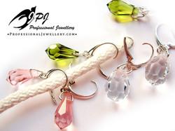 JPJ Professional Jewellery Swarovski Crystal Earrings in sterling silver 1.jpg