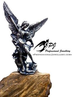 JPJ Professional Jewellery sterling silver Archangel Michael Statue - Figurine,