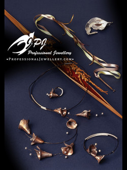 JPJ Professional Jewellery copper with sterling silver sets - flowery chimes, le