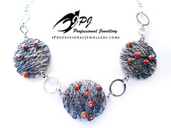 JPJ Professional Jewellery sterling silver and corals necklace 2a.jpg