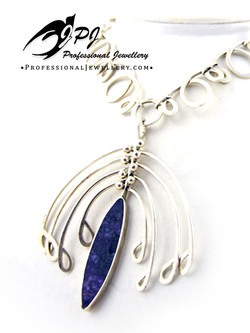 JPJ Professional Jewellery sterling silver necklace with charoite stone.jpg