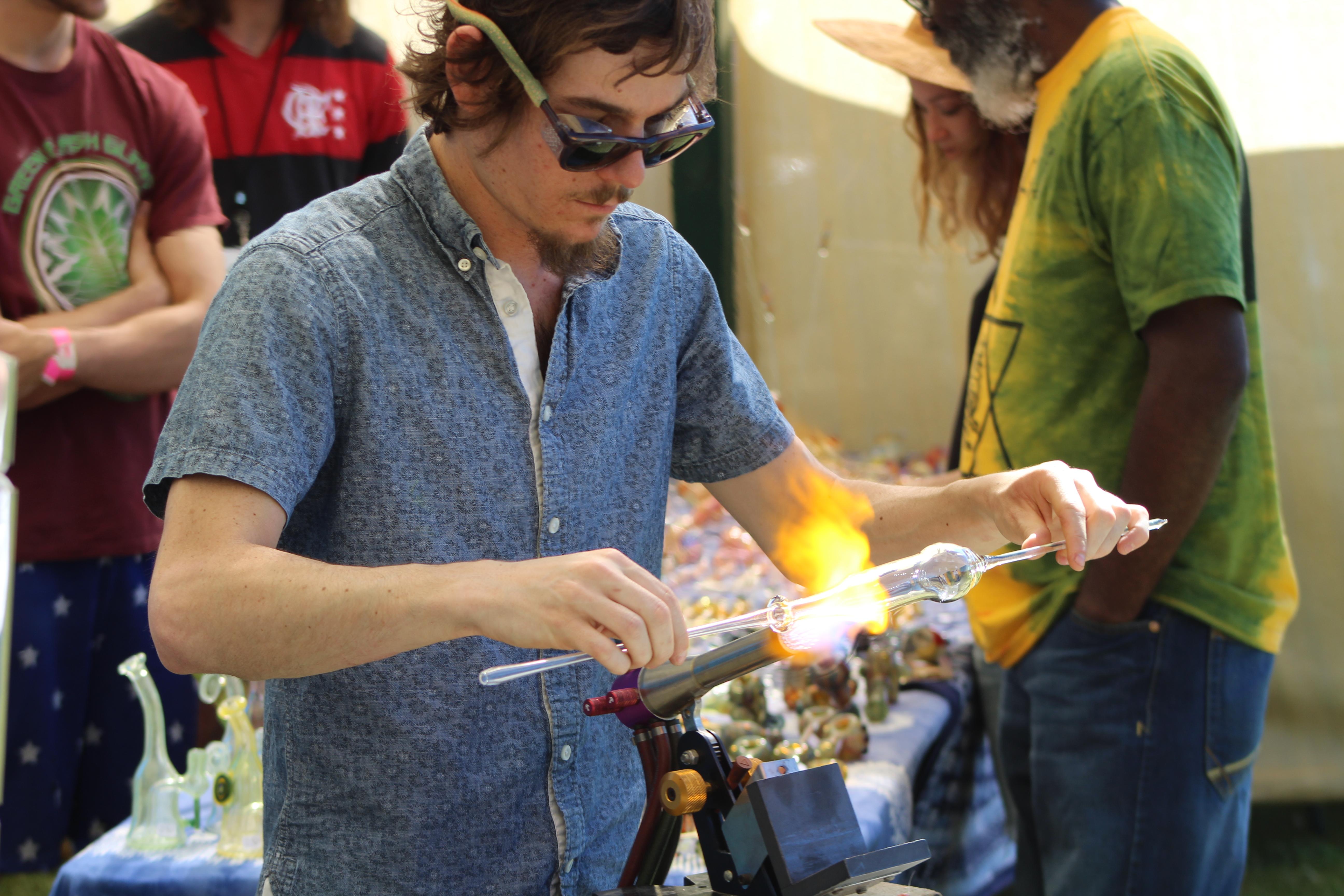 Blowing Glass Art