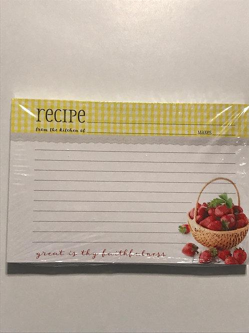 Recipe Cards  Strawberries