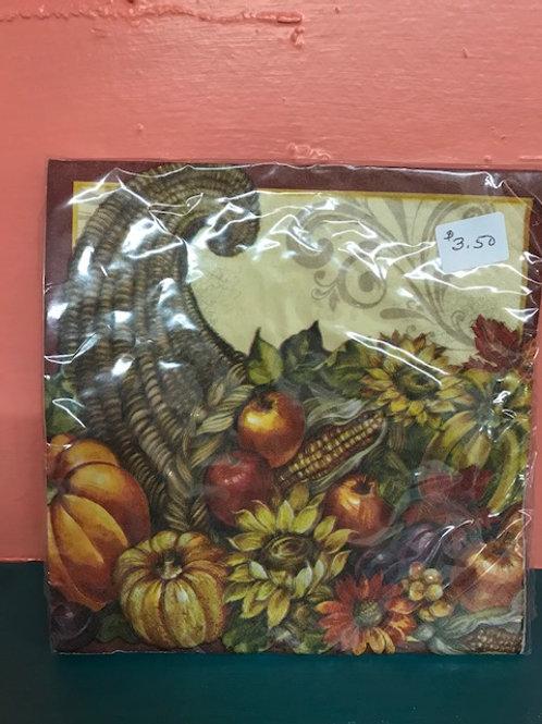 Thanksgiving  2 Napkins