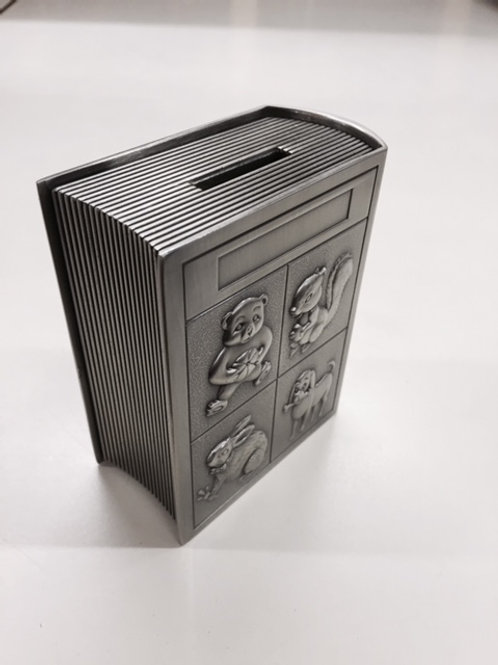 Pewter Story Book Bank