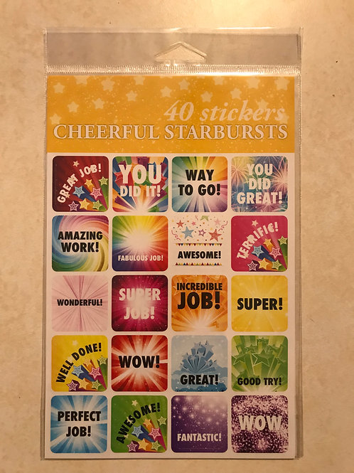 Cheerful Starburst stickers