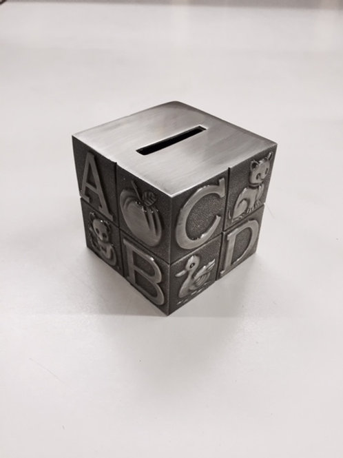 Pewter Large Block Bank