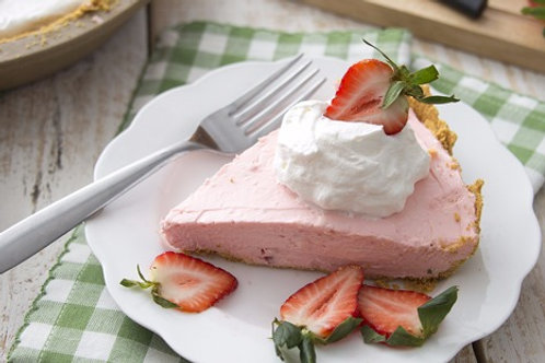Strawberry Cream No Bake Cheesecake