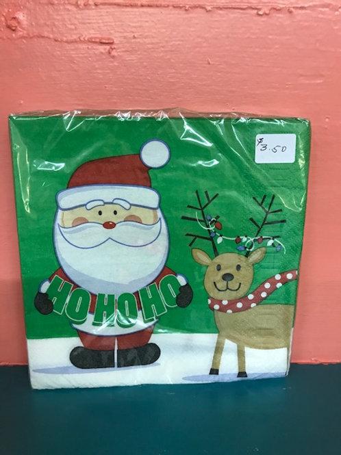 Santa & Reindeer Napkins