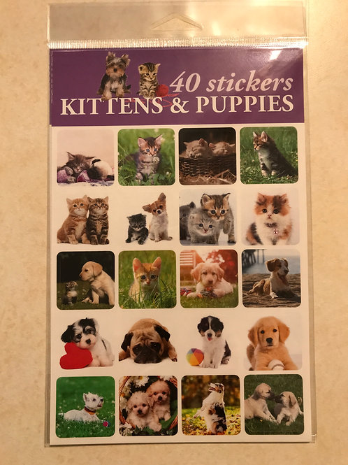 Kittens and Puppies Stickers