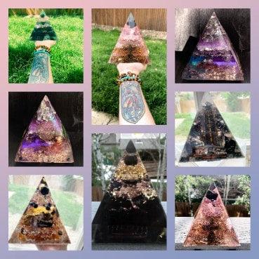Custom 6 inch Pyramid Set of 5