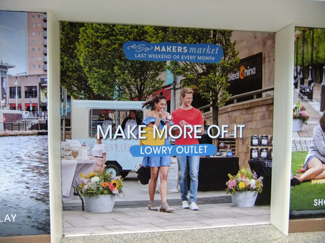 Our vintage ice cream trailer as part of the Makers Market Lowry Outlet advertisement campaign