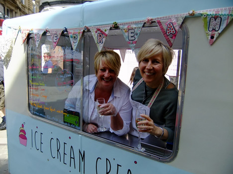Ready to serve our ice creams to guests!