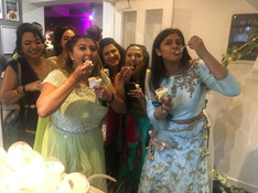 Wedding guests enjoying our ice cream!