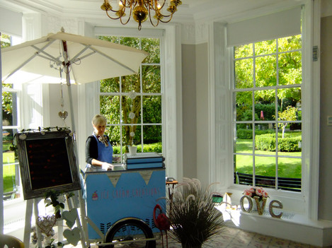'Dolly' ready to serve wedding guests