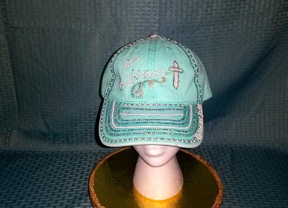 Grace ~ Aqua baseball Cap